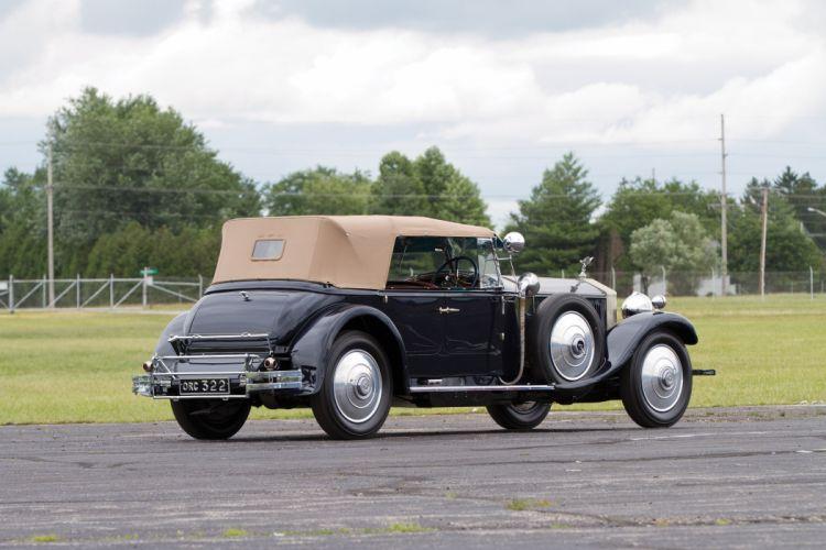 1929 Rolls Royce Phantom II Torpedo Tourer Barker vintage retro luxury wallpaper