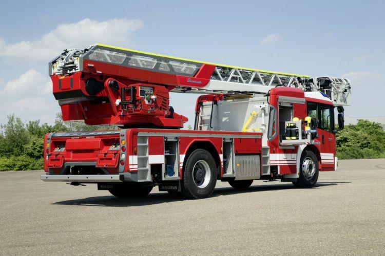 2015 Mercedes Benz Econic 1830L Magirus DLAK 23-12 firetruck emergency semi tractor fire wallpaper