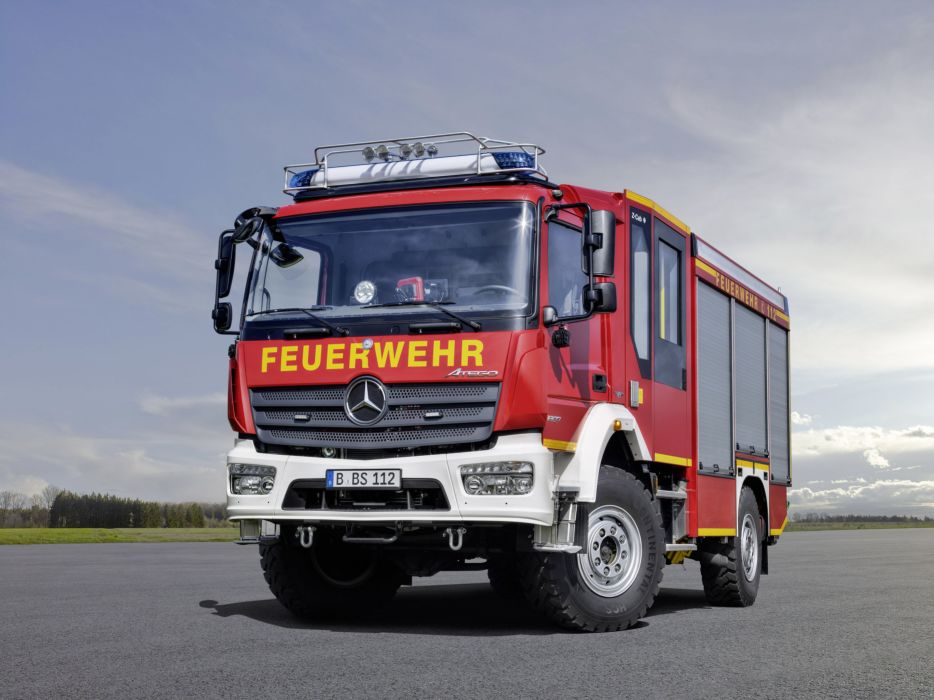 2015 Mercedes Benz Atego 1327 A-F Ziegler firetruck emergency semi tractor 4x4 wallpaper