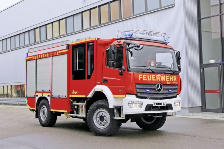 2015 Mercedes Benz Atego 1327 A-F Ziegler firetruck emergency semi tractor 4x4 wallpaper