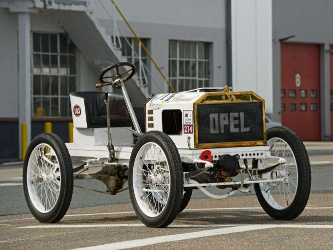 1903 Opel Rennwagen rally race racing vintage retro wallpaper