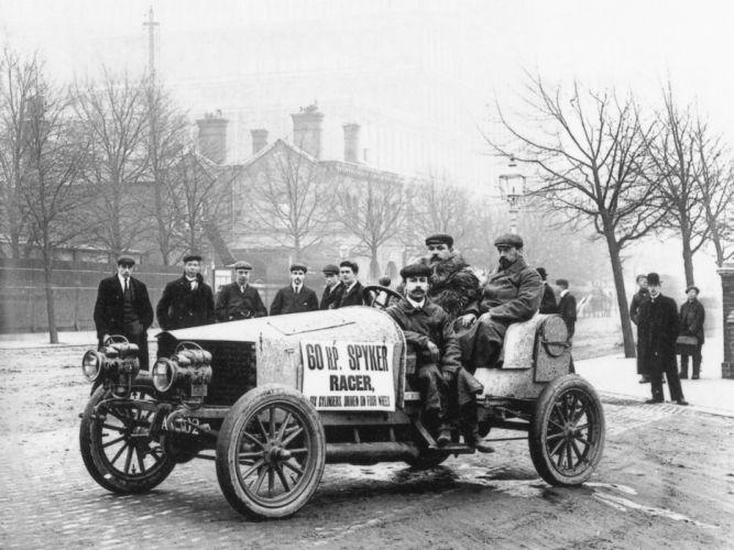 1903 Spyker 60HP rally race racing vintage retro wallpaper
