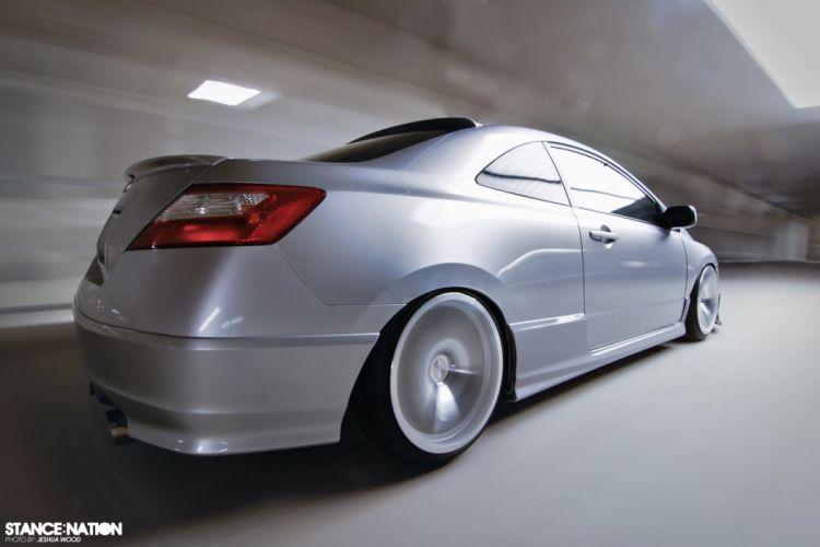 Honda Civic Coupe custom tuning wallpaper
