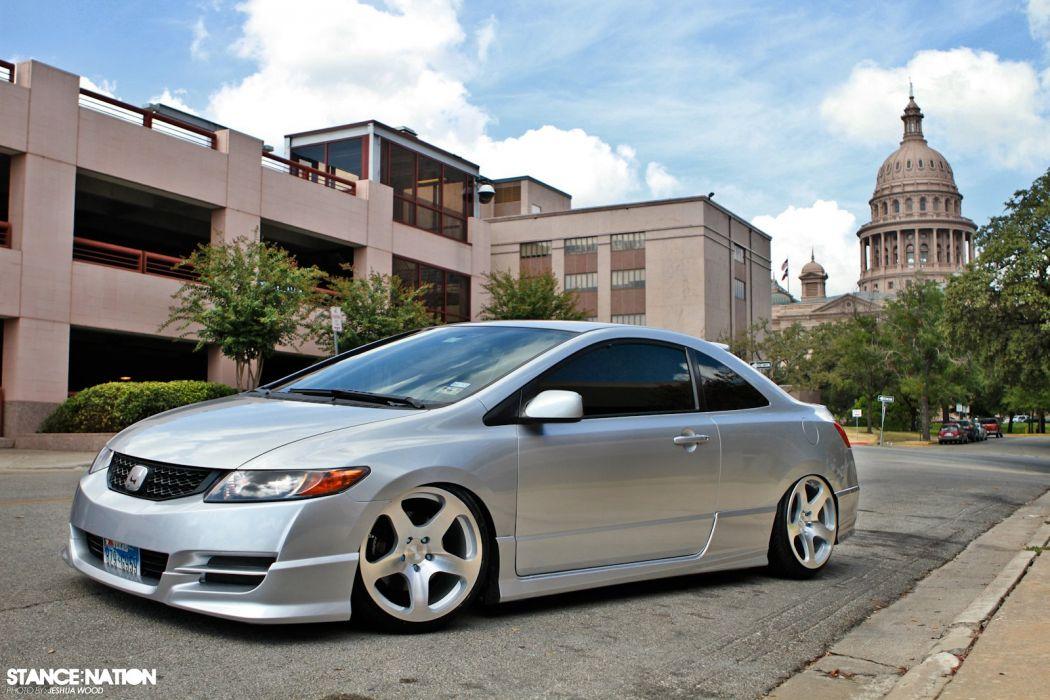Honda Civic Coupe Custom Tuning Wallpaper 1600x1067 845635 Wallpaperup