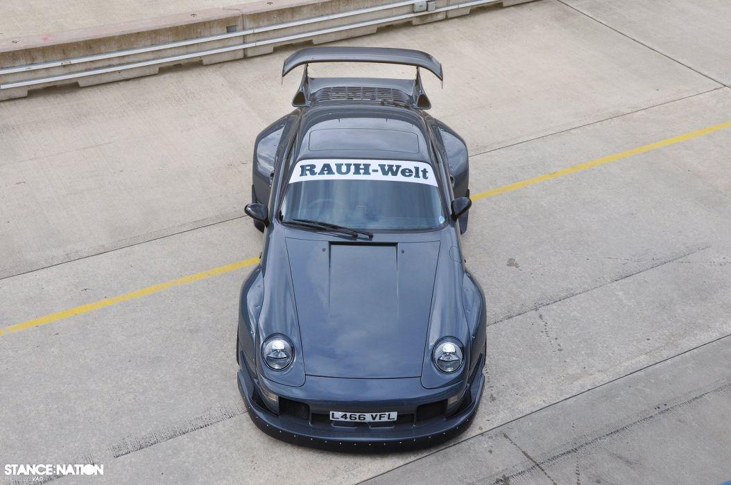 Porsche 964 Turbo custom tuning supercar race racing wallpaper