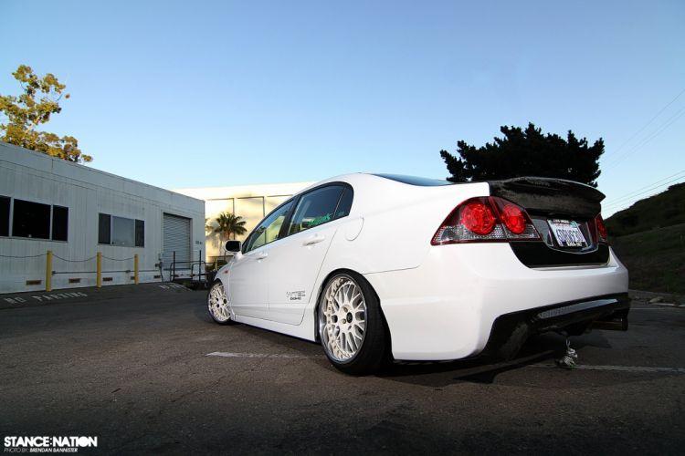 2008 Honda Civic Sedan Si custom tuning wallpaper