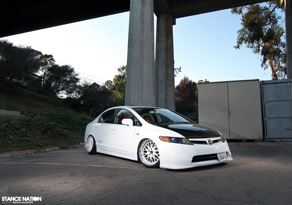 2008 Honda Civic Sedan Si custom tuning wallpaper