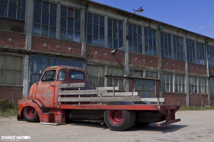 51 Chevrolet COE custom tuning pickup retro wallpaper