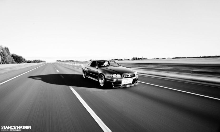 R34 Nissan Skyline GT-R custom tuning wallpaper