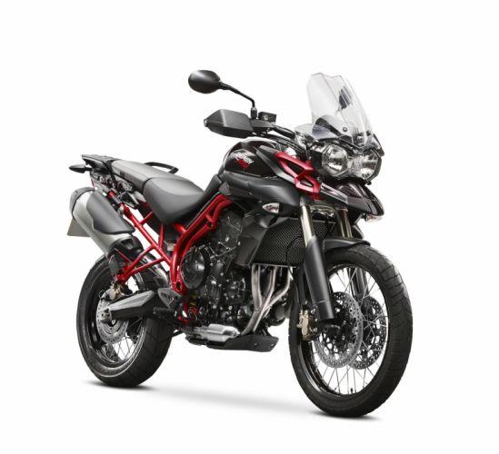 triumph tiger negra motocicleta wallpaper