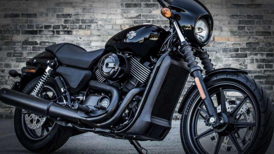 motocicleta harley davidson negra 750cc wallpaper