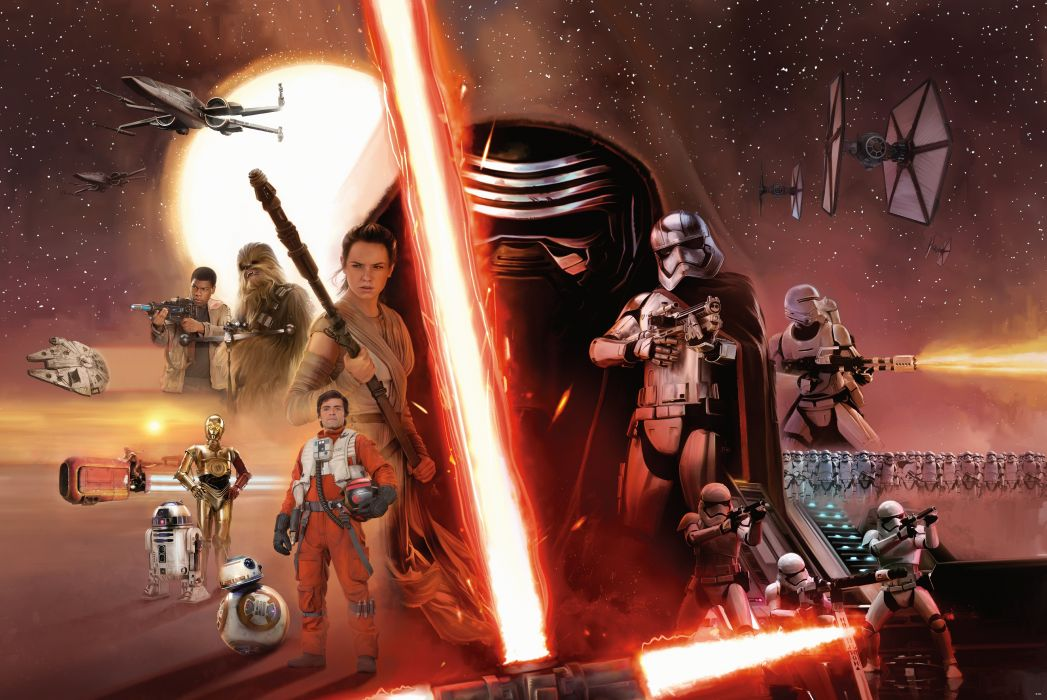 STAR WARS FORCE AWAKENS sci-fi futuristic action fighting 1star-wars-force-awakens adventure disney wallpaper