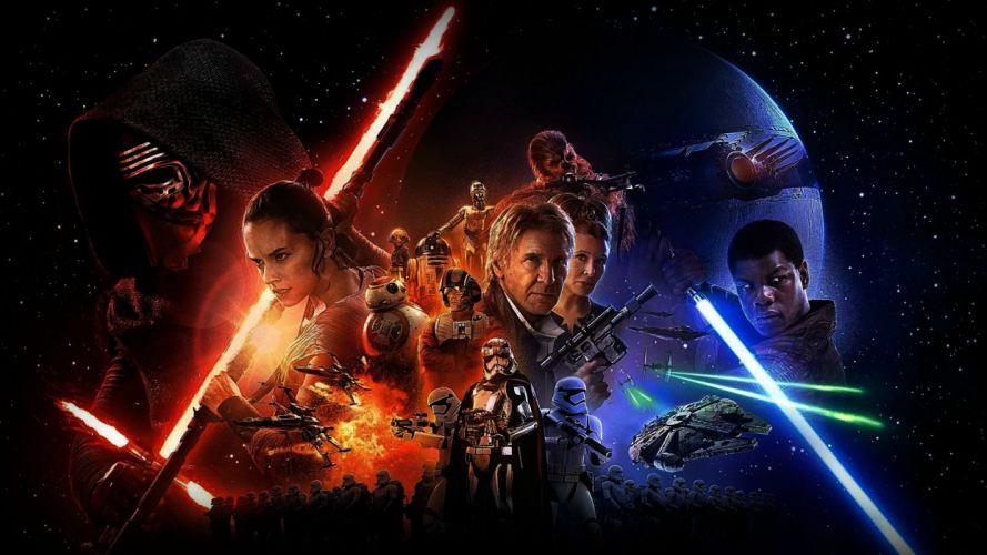 STAR WARS FORCE AWAKENS sci-fi futuristic action fighting 1star-wars-force-awakens adventure disney wallpaper