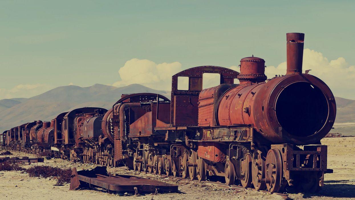 tren viejo abandonado bolivia wallpaper