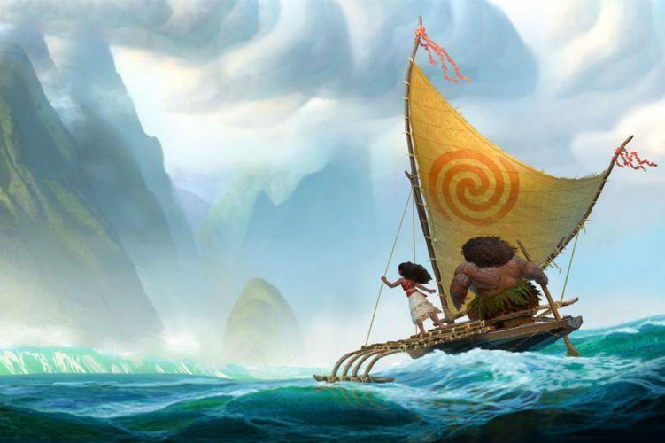 MOANA disney princess fantasy animation adventure musical family 1moana wallpaper