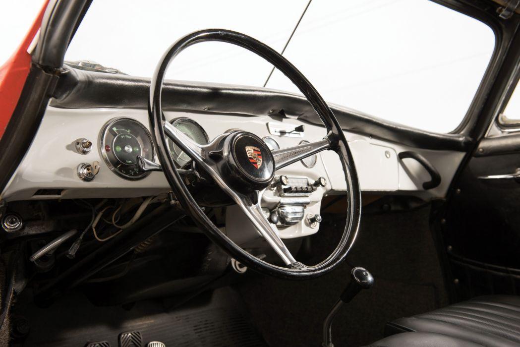 1964 Porsche 356 S-C Cabriolet art Janis Joplin classic wallpaper