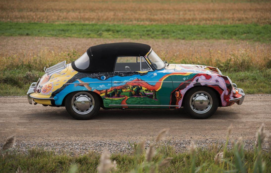 1964 Porsche 356 S C Cabriolet Art Janis Joplin Classic Wallpaper 4000x2561 847016 Wallpaperup