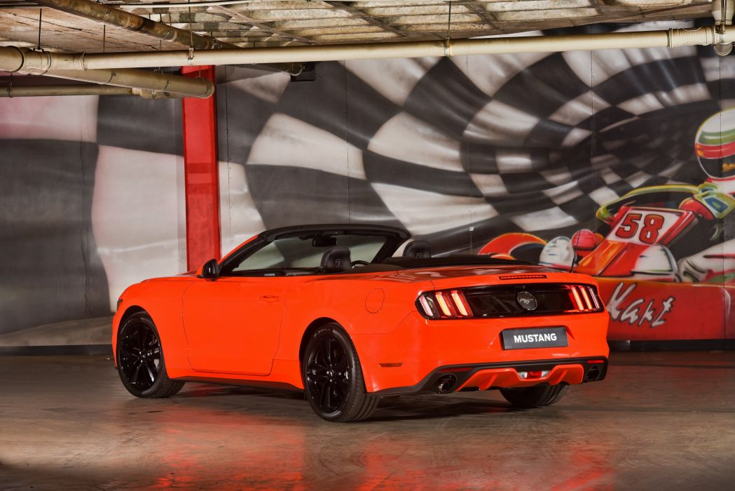 2015 Ford Mustang EcoBoost Convertible ZA-spec muscle wallpaper