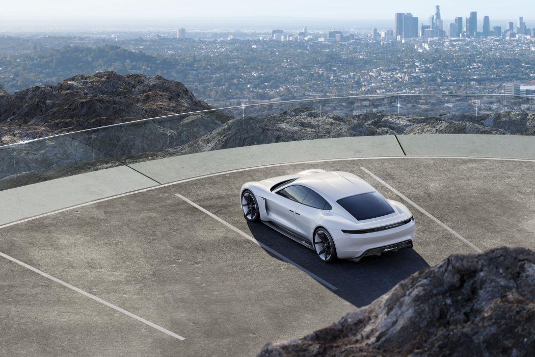 2015 Porsche Mission E Concept supercar electric wallpaper