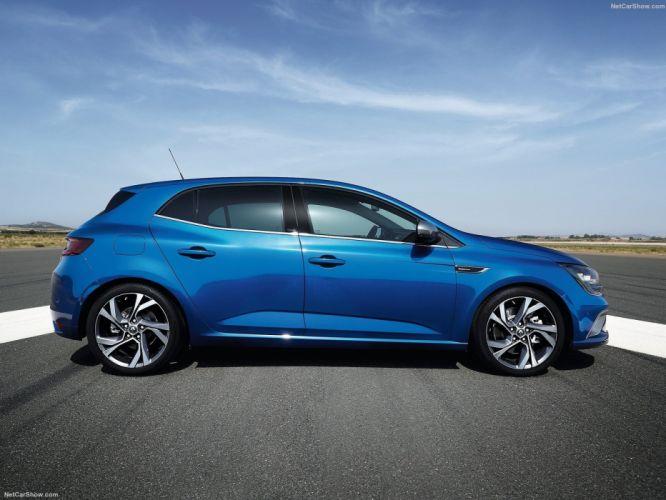 Renault Megane gt cars blue 2015 wallpaper