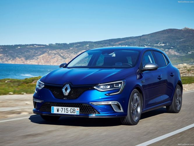 Renault Megane gt cars blue 2015 wallpaper