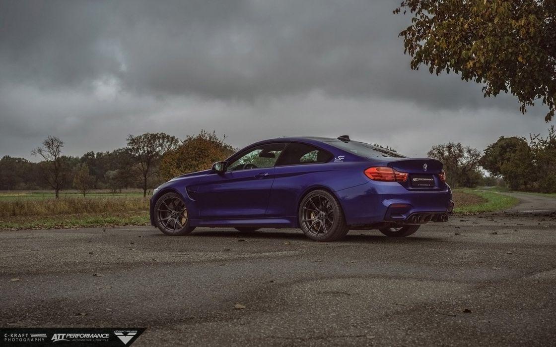 2015 Vorsteiner BMW M4 V-FF 103 wheels Interlagos Blue cars coupe wallpaper