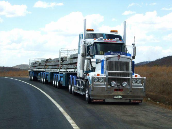 camion trailer carga wallpaper