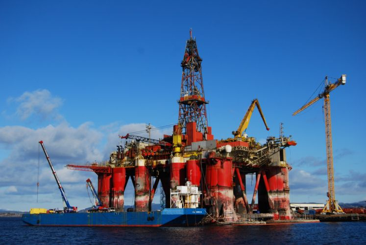 OIL GAS RIG platform ocean sea ship boat 1orig wallpaper