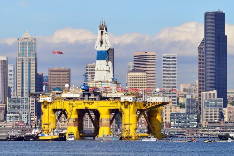 OIL GAS RIG platform ocean sea ship boat 1orig wallpaper
