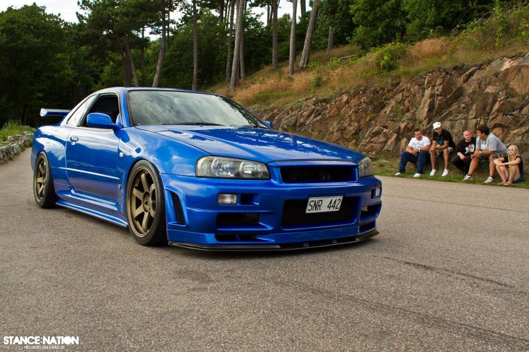 2001 Nissan Skyline R34 Gt R Tuning Custom Supercar Wallpaper 1600x1067 847716 Wallpaperup