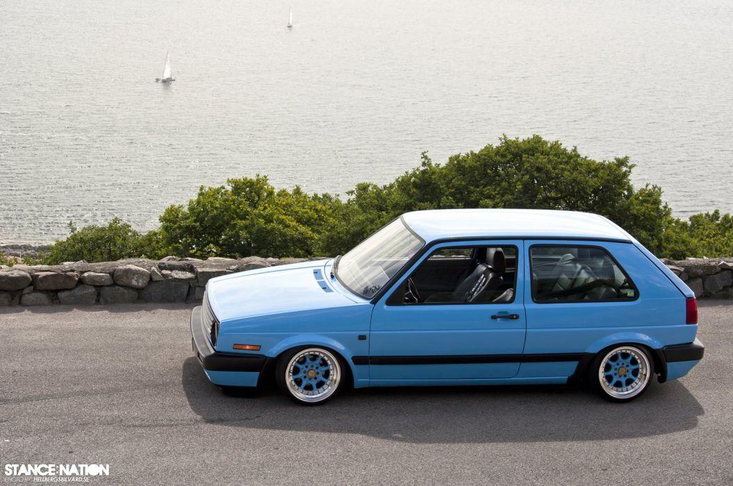 Volkswagen Golf Mk2 tuning custom wallpaper