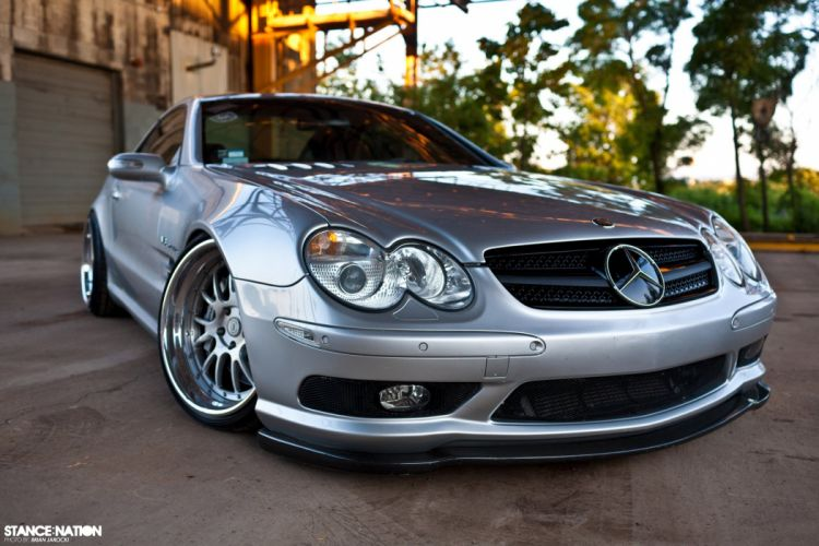 Mercedes Benz SL55 AMG tuning custom wallpaper