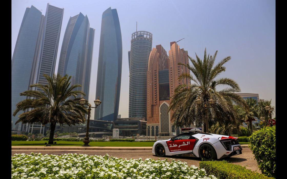 2015 Lykan Hypersport Abu Dhabi Police supercar emegency wallpaper