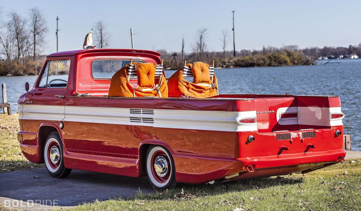 1961 Chevrolet Corphibian boat ship classic pickup wallpaper