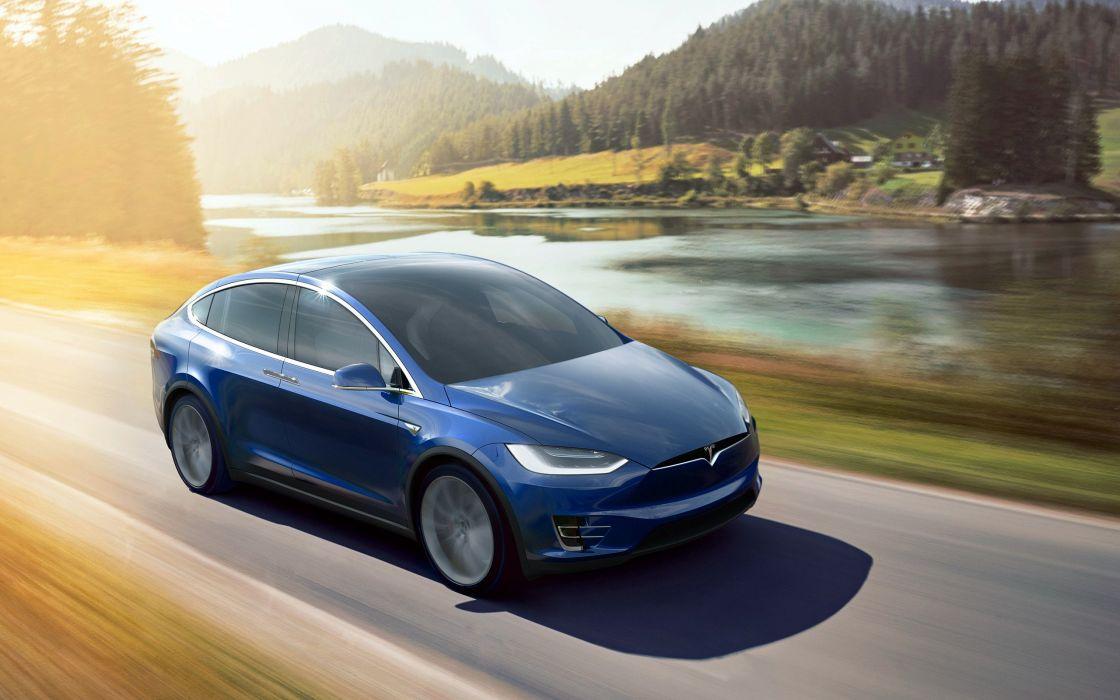 2017 Tesla Model-X electric supercar wallpaper