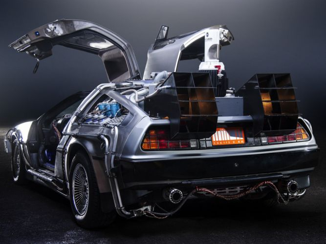1985 DeLorean DMC-12 Back-to-the-Future sci-fi futuristic custom concept supercar wallpaper