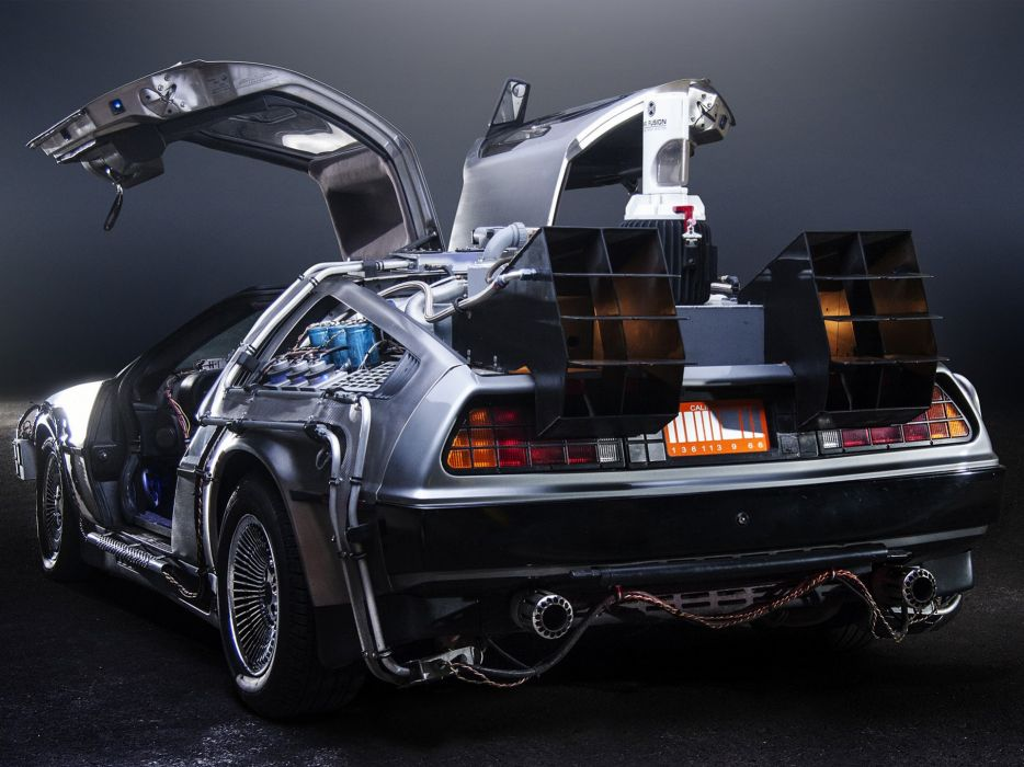 1985 DeLorean DMC-12 Back-to-the-Future sci-fi futuristic custom concept supercar wallpaper