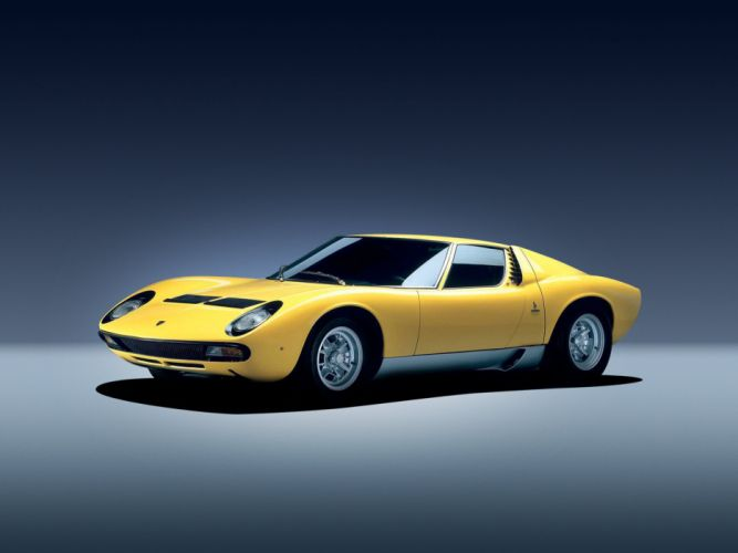 1971 Lamborghini Miura S-V classic supercar wallpaper