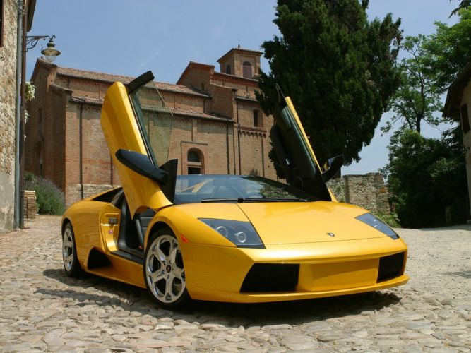 2004 Lamborghini Murcielago Roadster supercar wallpaper