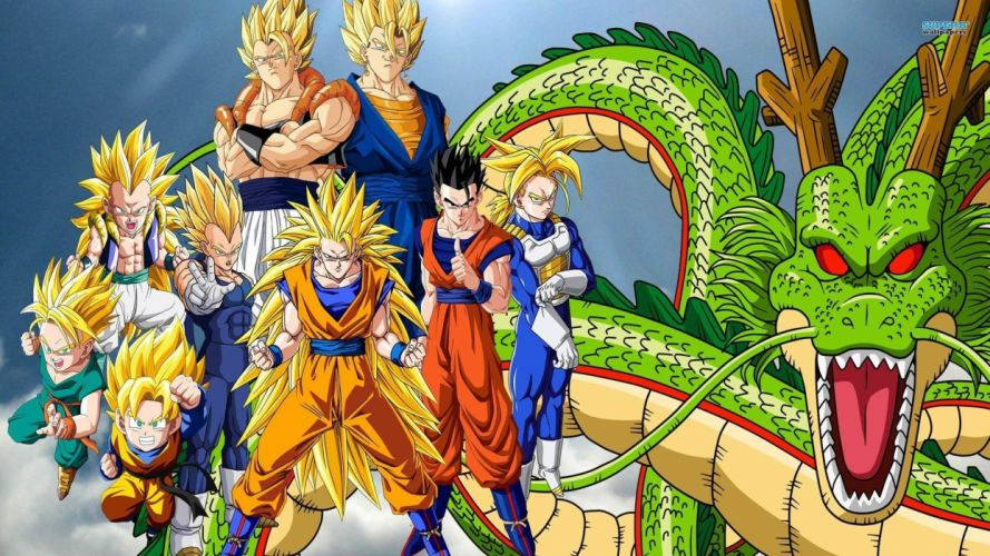 dragon ball-z anime series group characters wallpaper