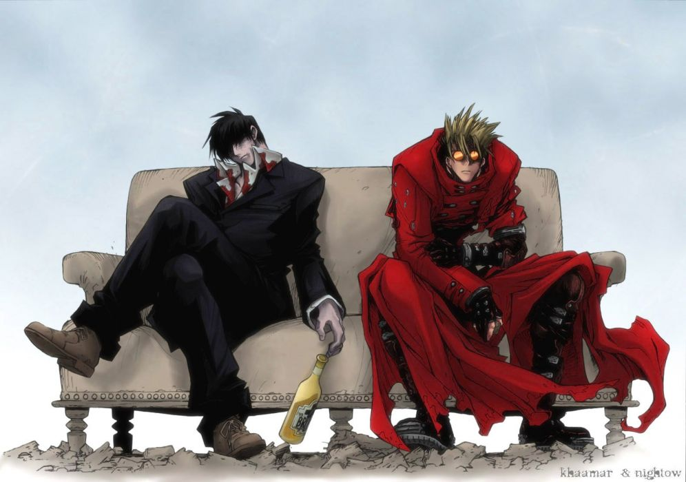 anime series characters trigun vash the stampede nicholas d wolfwood guys wallpaper