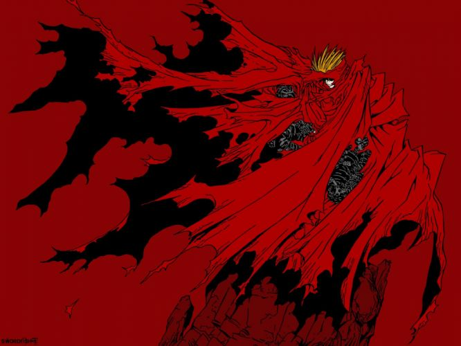 anime series characters trigun red male wallpaper