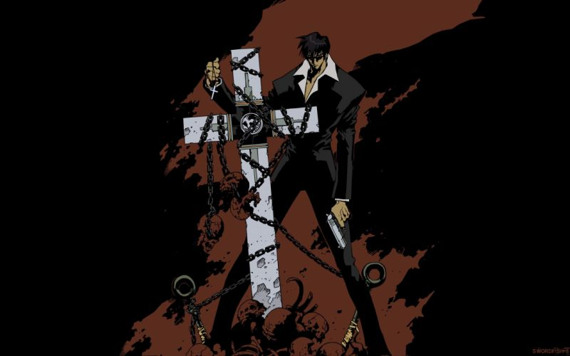 anime series trigun nicholas d wolfwood wallpaper