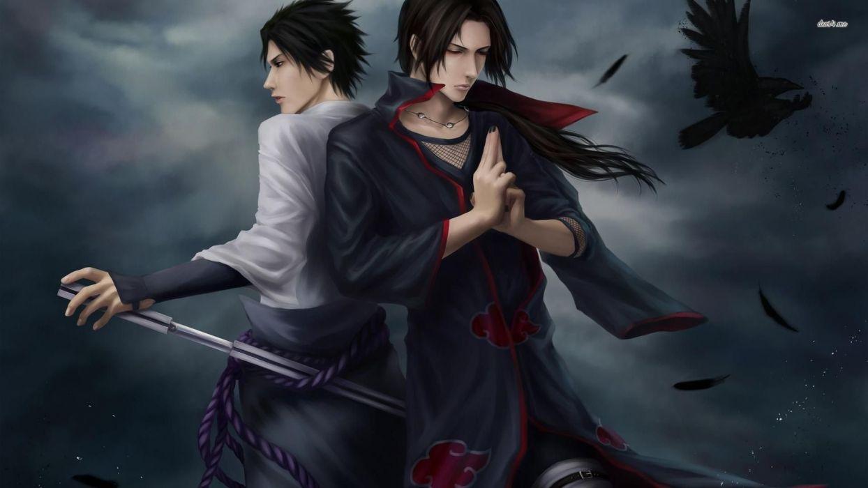 Itachi And Sasuke Uchiha Itachi Uchiha Naruto Anime Series