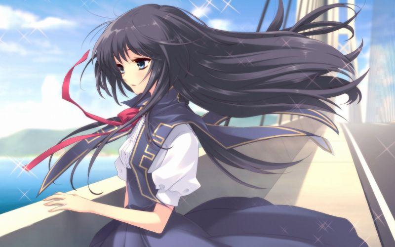 anime girl dress long hair cute beautiful wallpaper