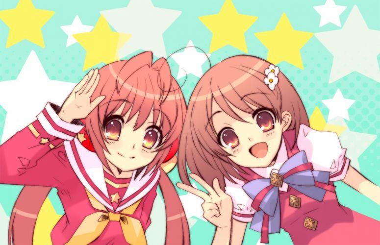 anime girl friends group cute wallpaper