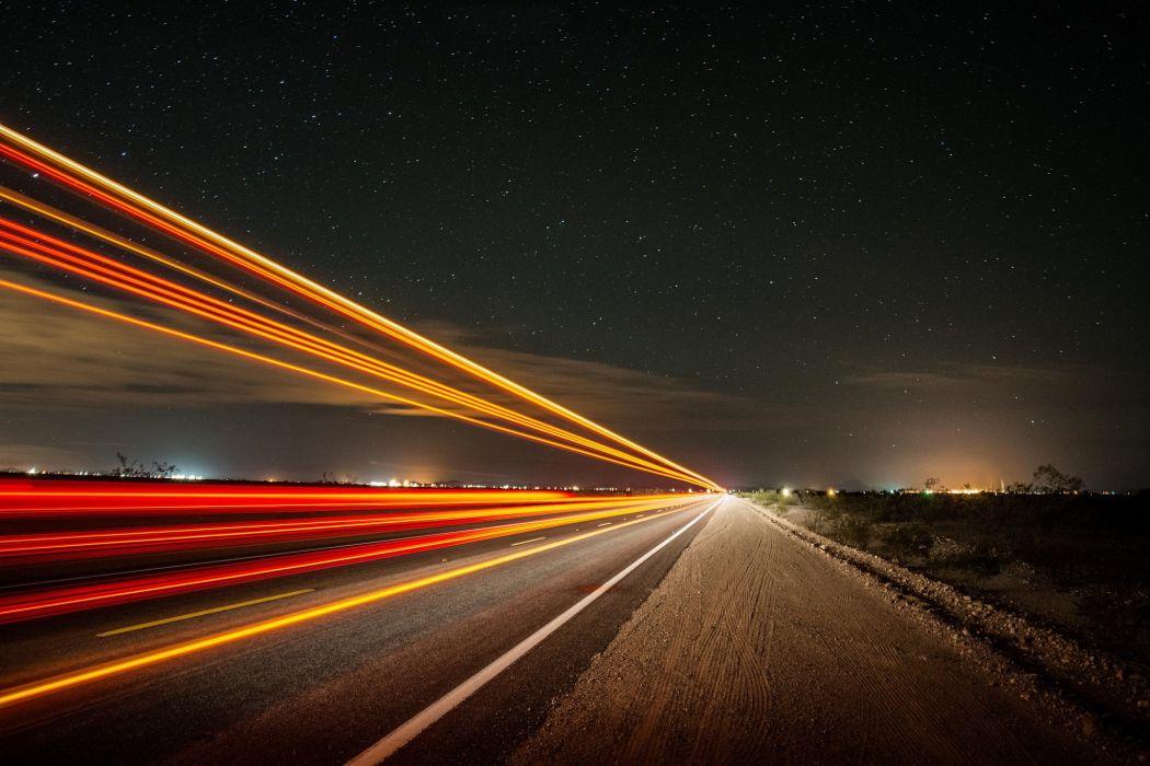 night road shutter speed light wallpaper 2048x1365 848680
