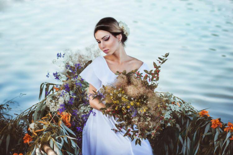 river boat bride flowers mood wallpaper