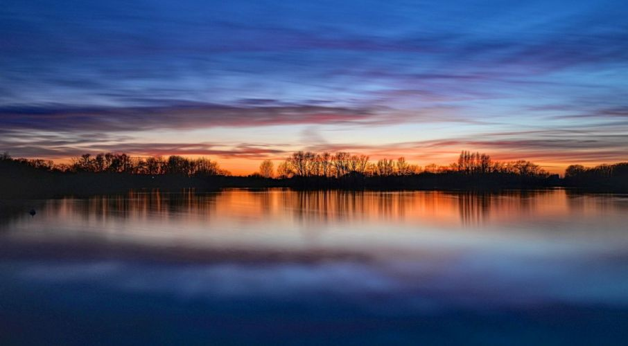 sky beauty clouds horizon sunset wallpaper