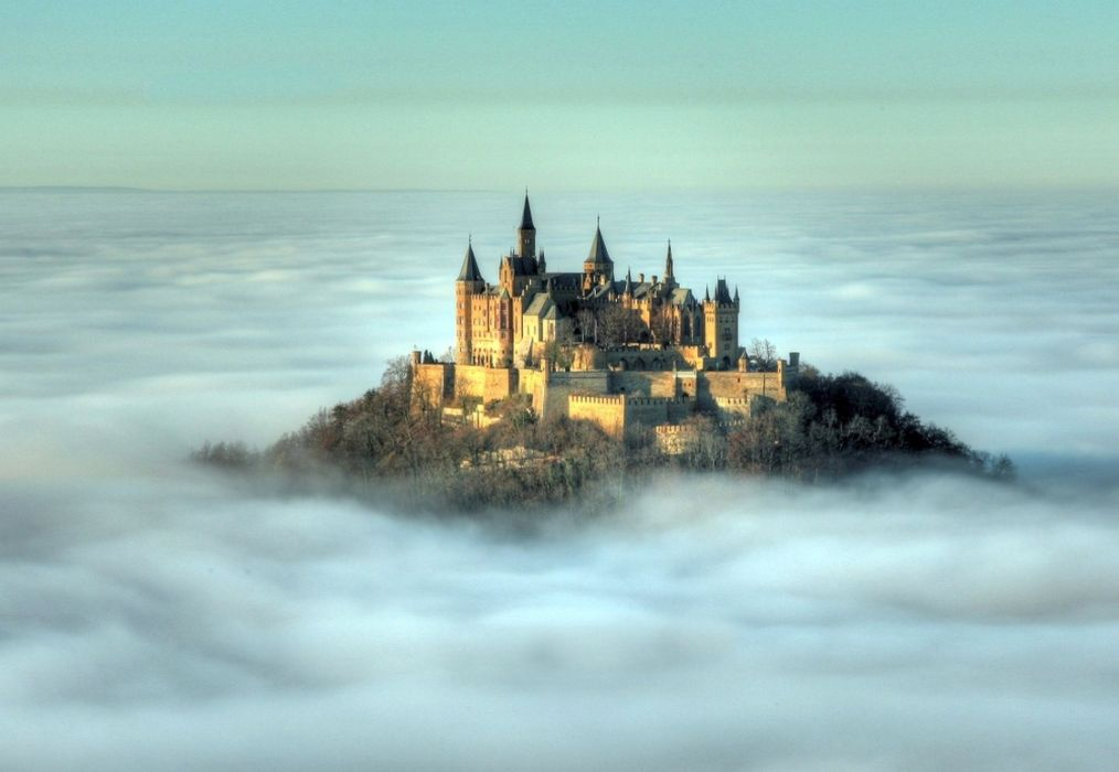 Hohenzollern Castle at dawn Germany wallpaper